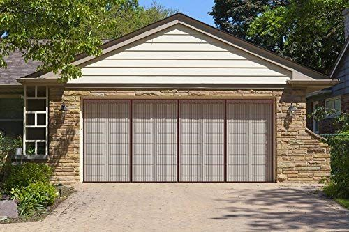 Liveinu Upgraded Magnetic Garage Door Screen 2 Car Screen Door For Single Or Double Garage With Hook Loop Install Garage Screen Door Screen Door Garage Doors
