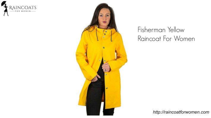 Fisherman Yellow Raincoat For Women
