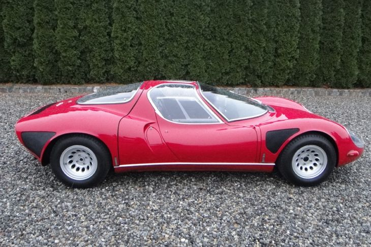 1968 Alfa Romeo Tipo 33 Stradale.  Regularly voted the best looking motor car in history