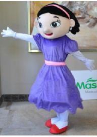 La Fille en Robe Violette Costume de Mascotte fill...