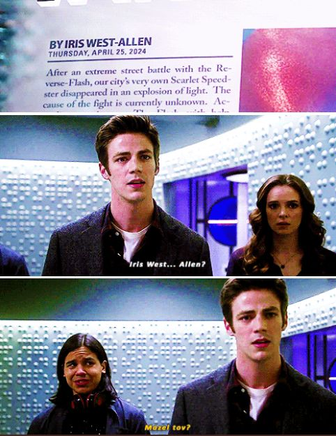 Look at Caitlin's face.<--Look at Barry's face! That man should be over the moon, but he's not. #Snowbarry