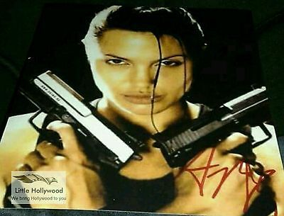 ANGELINA-JOLIE-from-Tomb-Raider-Beautiful-8x10-autographed-RP-lustre-photo