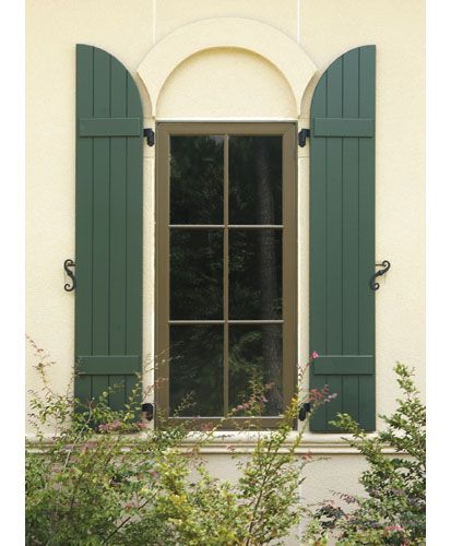 Arched batten shutters make your own how to make board - Composite board and batten exterior shutters ...