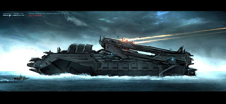 Battleship Concept Art by George Hull Motion Picture Concept - sample battleship game