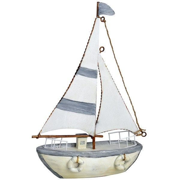 "Light Blue 7"" Sailing Boat 28 x 19 x 6cm £24.95 Available at Holly House, Enterprise Shopping Centre, http://enterprise-centre.org/shop/holly-house-gifts"