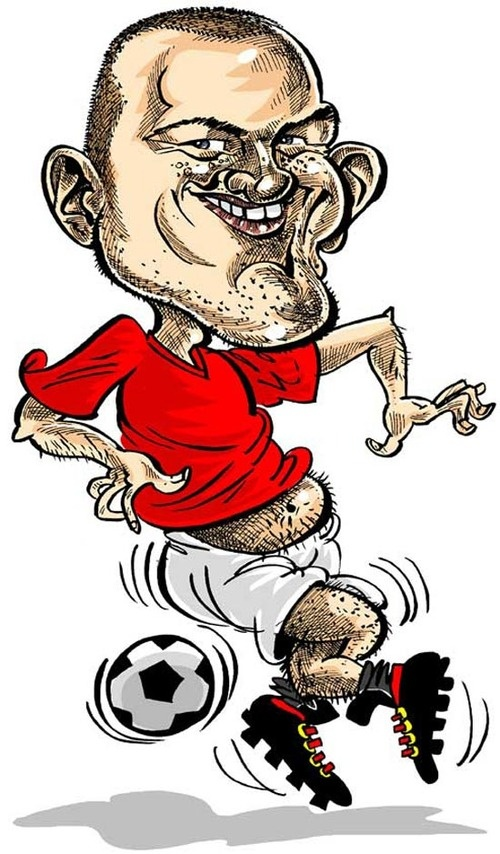 Caricature of Wayne Rooney by me, what do you think?