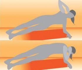 esercizi per addominali obliqui mantenendo l'equilibrio sulle gambe stese e il gomito. Portate l'altro gomito in fuori e scendete, lentamente e mantenendo gli addominali contratti per darvi sostegno. Ritornate altrettanto lentamente in posizione e ricominciate