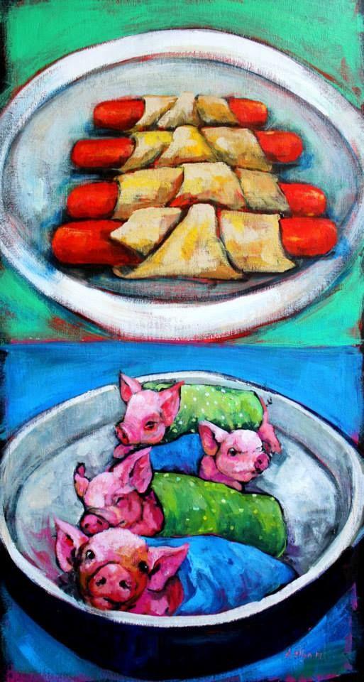 Dana ELLYN ..... THE PIGS IN BLANKETS BELOW, NOT ABOVE>