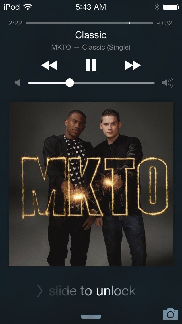 MKTO - Classic I've only listened to this song 20 times in the last week... (I'm not lying).
