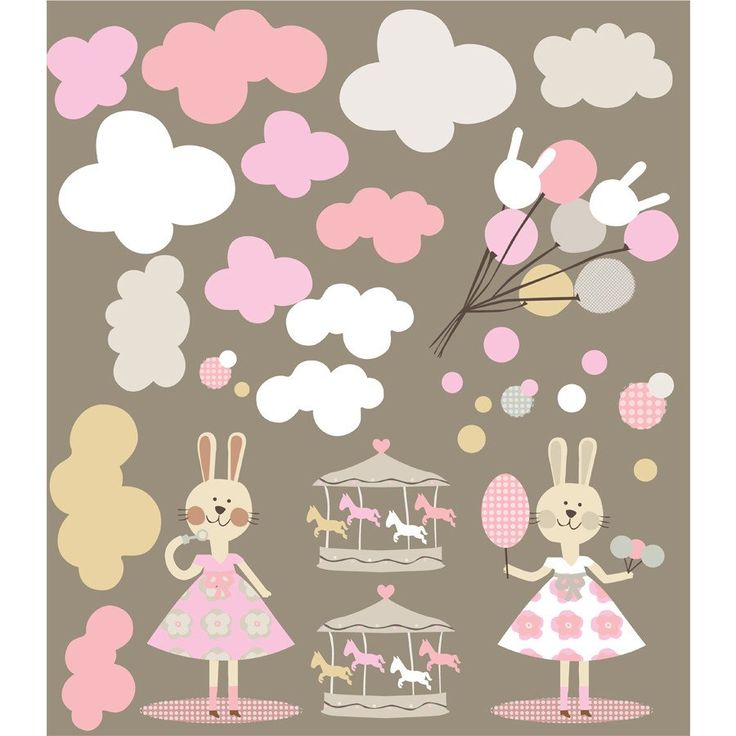Wall stickers- Fairgrounds Pink - Walls & Stickers - Baby Belle - 1