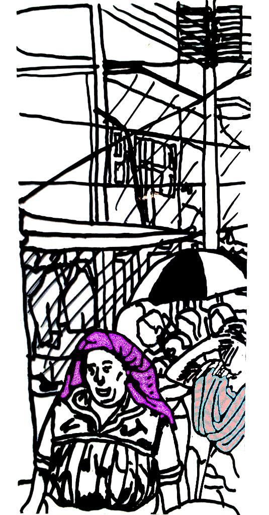 Mujeres de Tlacolula con tocados y rebozos (4)