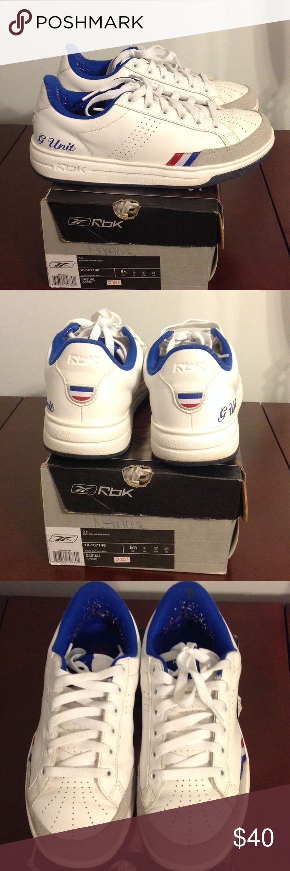 G Unit G6 Worn handful of times. G Unit sneaker, very comfortable, fits women size 7 1/2 Reebok Shoes Sneakers