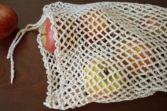 Earth-Friendly Shopping Bag Cotton or Hemp String Bags Handmade Net Market Bag