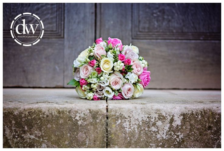 Wedding Brides Flowers at Downing College, Cambridge