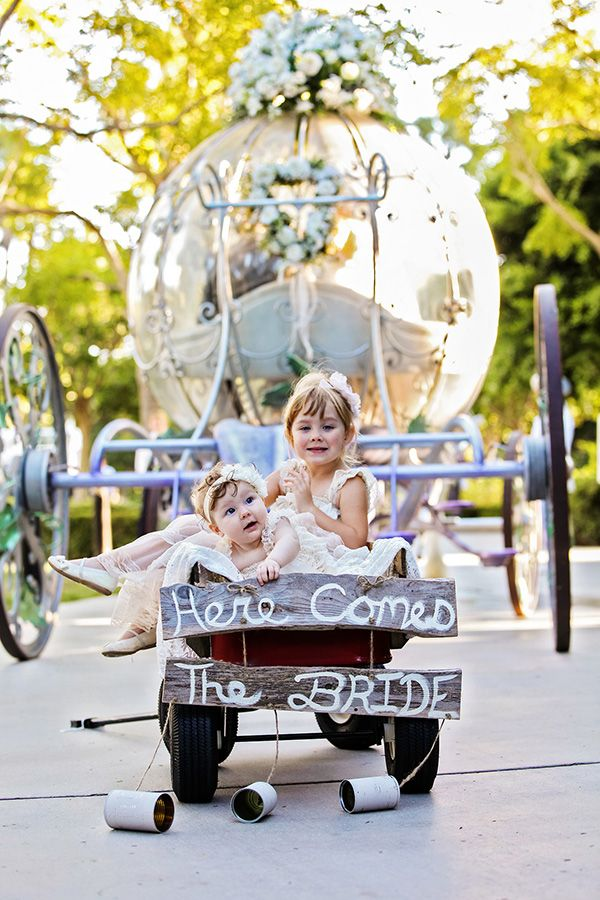 We can't stop cooing over these tiny attendants at a Disneyland wedding!