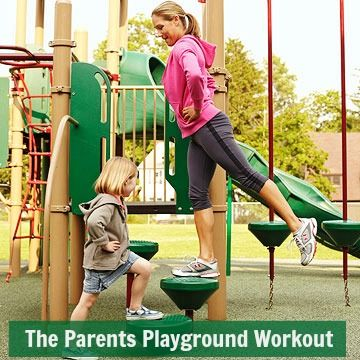 Play off the pounds! Try these #workout moves while you're at the park with your kids: http://www.parents.com/parenting/moms/healthy-mom/get-fit-at-the-playground/?socsrc=pmmpin130417jfmPlaygroundWorkout