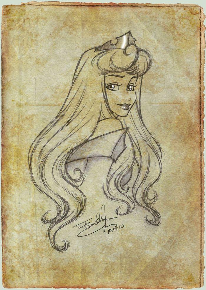 Aurora_Sketch by *Emilia89 on deviantART