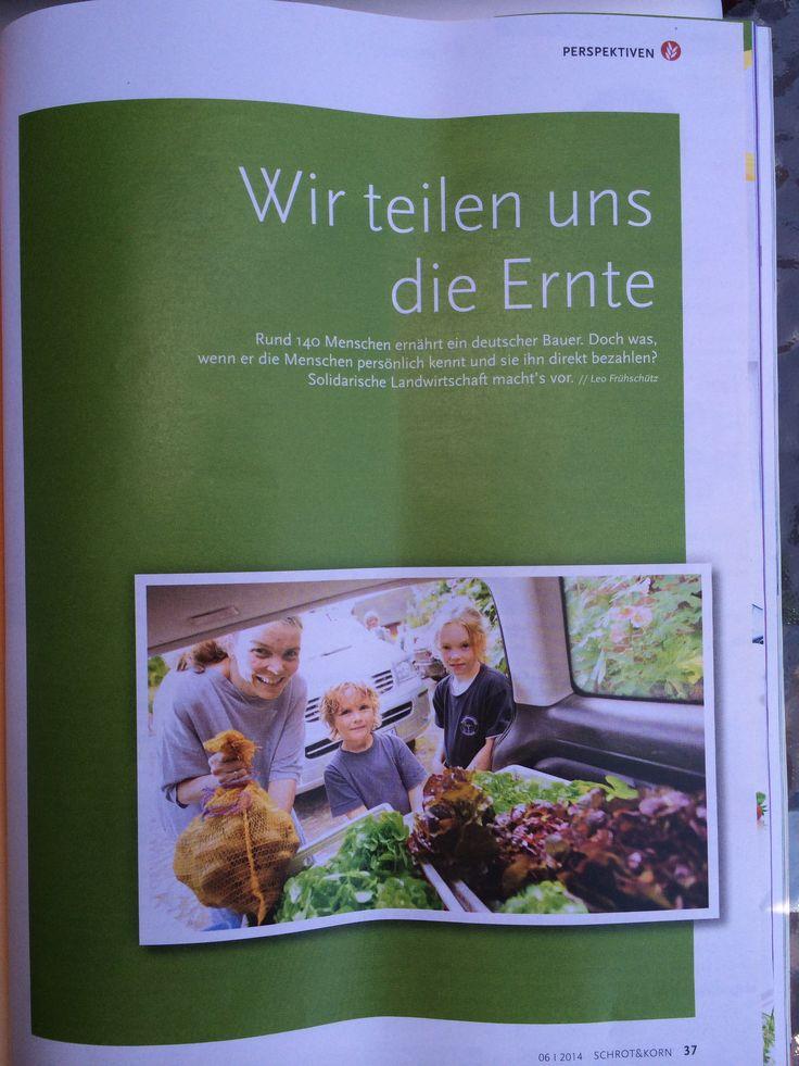 Bericht über die #Solidarische #Landwirtschaft (#Solawi) in München. #Schrot&Korn