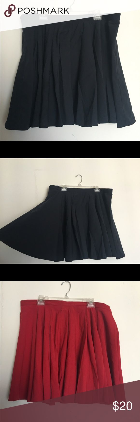 Size 16 ASOS circle skirts (2) Two skirts in this listing. Circle skirts with a lot of fabric. Zip and closure in back. My storage that held these clothes were at a house with smokers and dogs - smell may be faint but with a wash it would be clear. ASOS Curve Skirts Circle & Skater