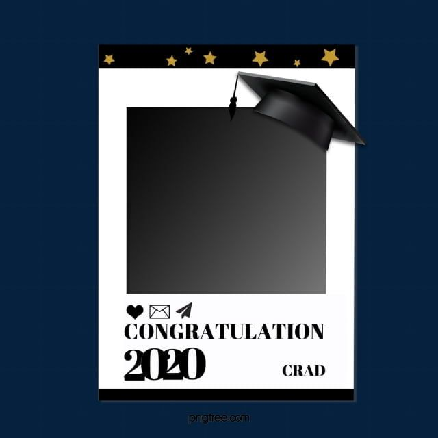 Black Graduation Simple Border, Black, Graduation, Simple ...