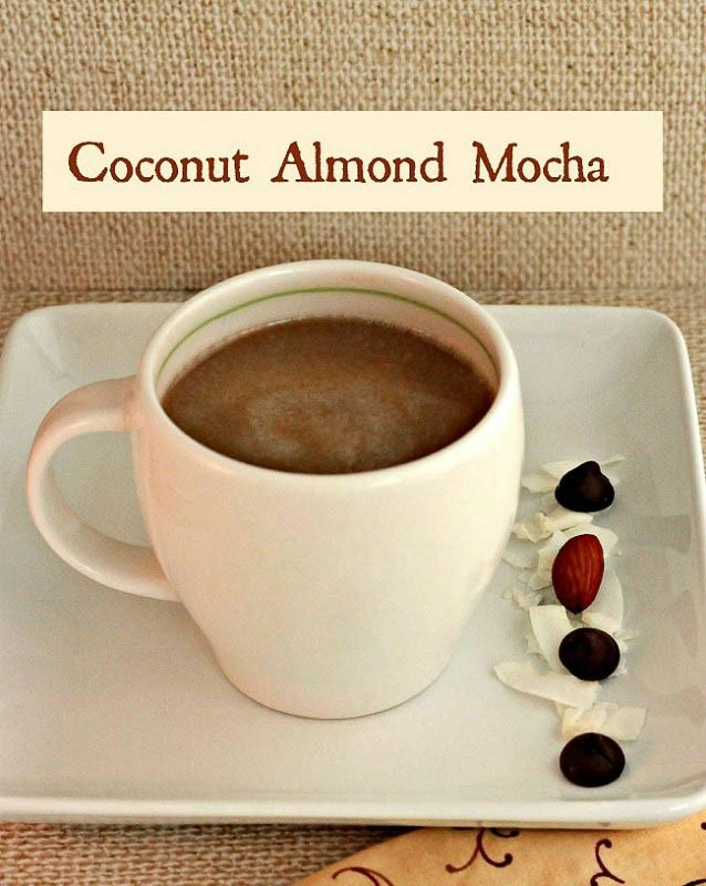 Coconut Almond Mocha- Paleo and Low Carb cafe mocha with candy bar flavors.