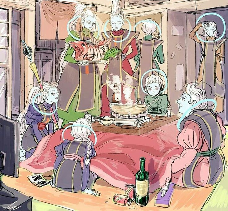 The grand priest and seven of his children