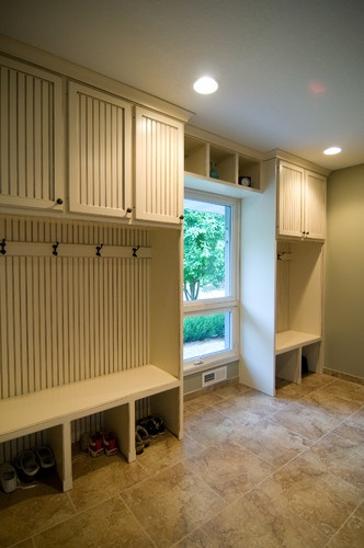 Kitchen, Mudroom, and Front Entry Way Custom Cabinets traditional entry