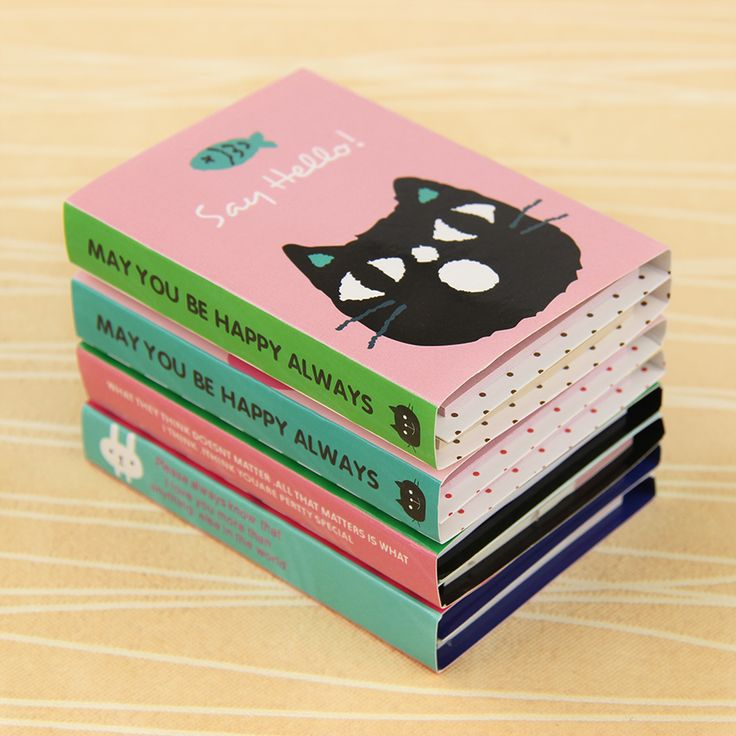 1 pc Creative 180 Pages Sticker Mini Animal Sticky Notes 4 Folding Memo Pad Gifts School Stationery Supplies