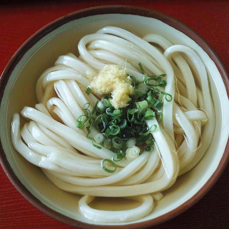 朝うどん、その2。すごいボリュームとコシ。  udon in the morning 2.  #udon #noodles #kagawa #四国 #うどん #さぬきうどん  (まいどまいど)