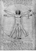 Vitruvian Man, Study of proportions, from Vitruvius's De Arc...  by Leonardo Da Vinci