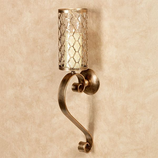 Quatrefoil Scroll Large Candle Wall Sconce Large Candle Wall