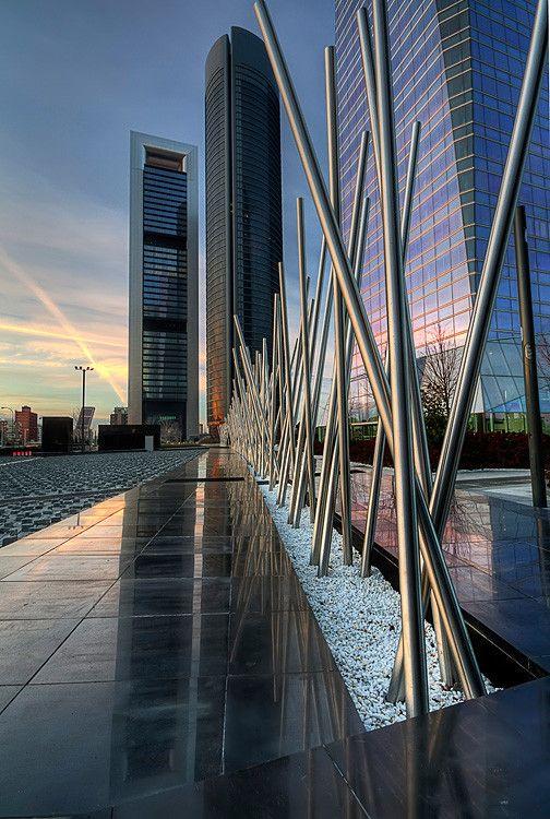 New business area at the Paseo de la Castellana boulevard. Madrid.