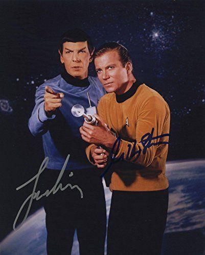 William Shatner & Leonard Nimoy Star Trek Signed Autographed Color Pho @ niftywarehouse.com #NiftyWarehouse #StarTrek #Trekkie #Geek #Nerd #Products