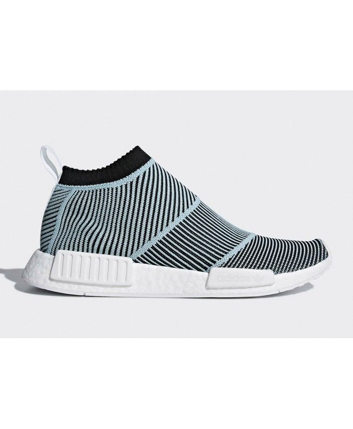 uk availability 09152 63ccb Adidas Parley NMD City Sock Blue Spirit Core Black Shoes ...