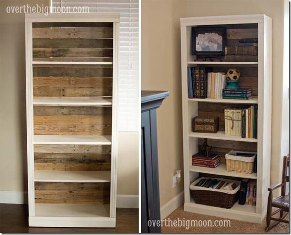 Take An Inexpensive Bookshelf Then Replace The Back With