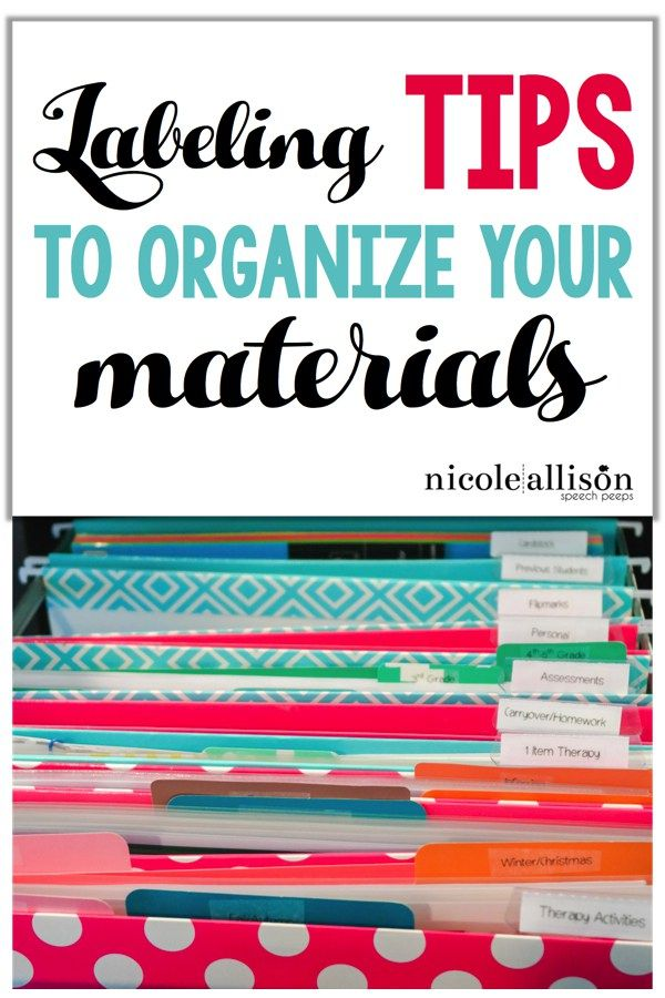 Missy Oertner By labeling all of your materials it is a great way to keep organized. This will help with your classroom management and keeping class run smoothly