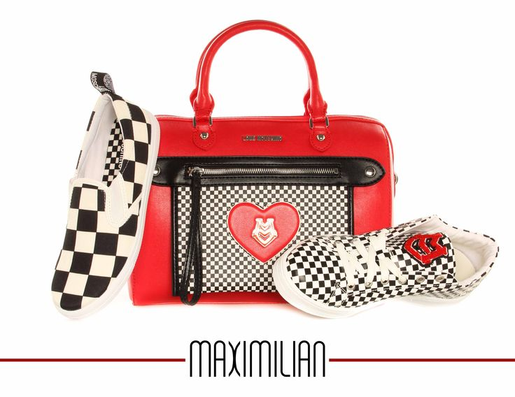 CHECK it out! - Moschino Love new bag collection #red #check #MOSCHINO #bags #SS15 #maximilian_it