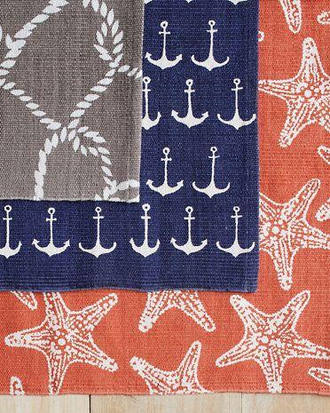 Garnet Hill Printed Cotton Rug