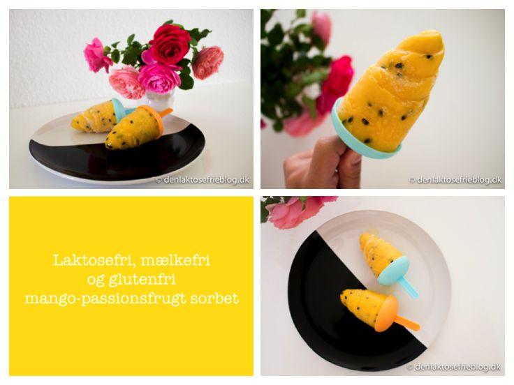 Hjemmelavet mango-passionsfrugt sorbet Få opskriften her: http://denlaktosefrieblog.dk/2014/07/01/hjemmelavet-mango-passionsfrugt-sorbet/  #mango #passionsfrugt #sorbet #laktosefriis #sorbetudenmælk #laktosefrisorbet #frugtis #glutenfriis #mælkefriis #lavselvis #isudenlaktose #laktoseintolerance #laktoseintolerans #laktosefrimad #laktosefrieopskrifter #denlaktosefrieblog