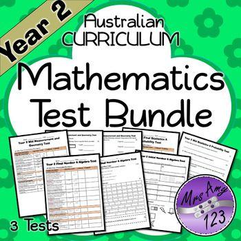 Year 2 Mathematics Test Pack- Australian Curriculum