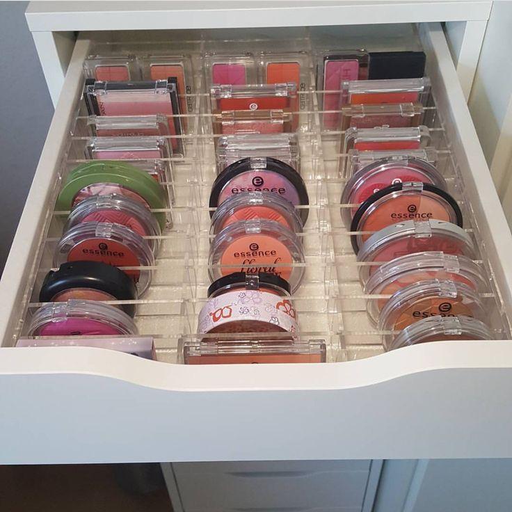 Acrylic Makeup Organizer ALEX 42 compartment drawer divider