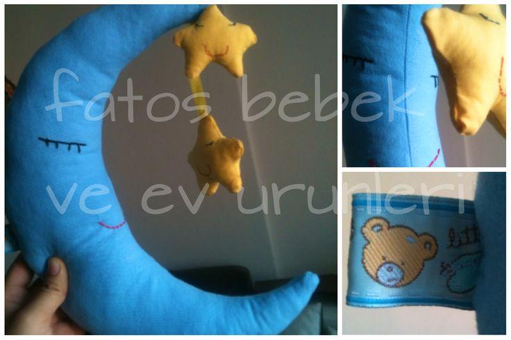 Aydede ve yıldız kardeşler :) The moon with the twin stars :)