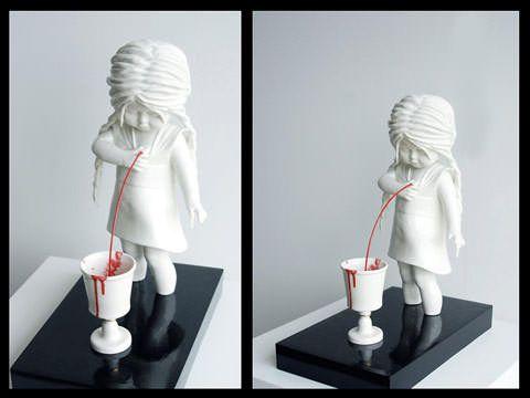 Best Maria Rubinke Images On Pinterest Art Sculptures - Amazingly disturbing porcelain figurines by maria rubinke