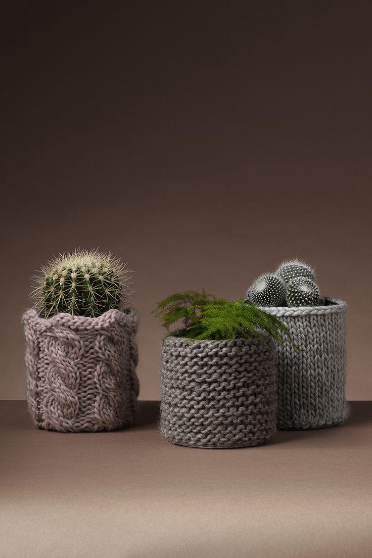 Keep your plants warm www.pandurohobby.com  Panduro #knitting #DIY #knit #yarn