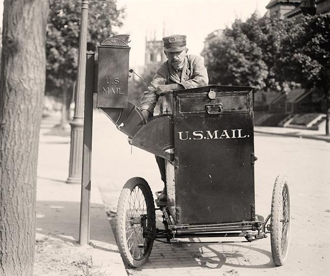 Postman Delivering Mail. 1912