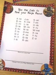 Ninja Names for the kids!