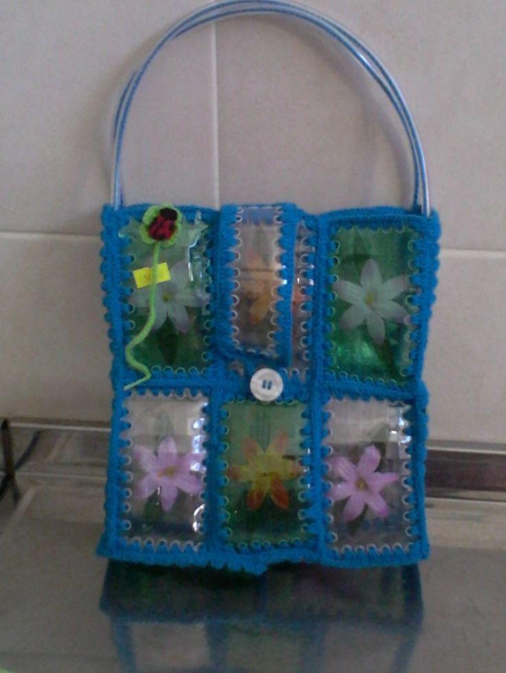 12 best images about bolsas d botellas d plastico on - Botellas de plastico manualidades ...