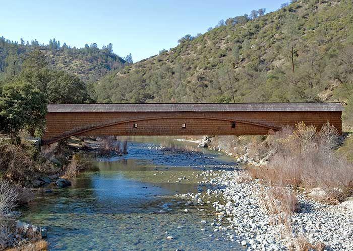 worlds longest covered bridge... Bridgeport, CA