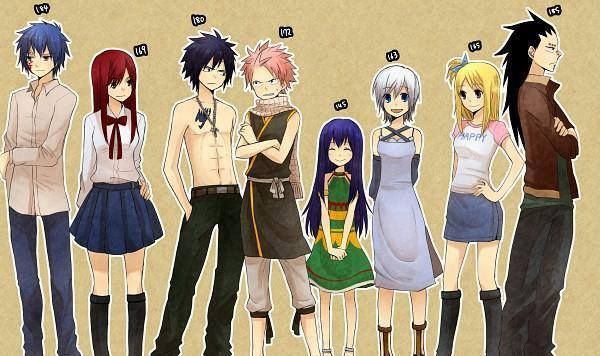 6 Foot Tall Anime Characters : Height comparison fairy tail pinterest