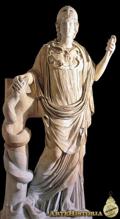 Atenea (Copia romana de un original griego) Autor: Fecha: Siglo V a.C. Museo: Museo Nacional de Roma Características: : Roma : Mármol